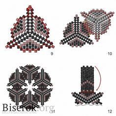 Triangles put together for interesting pendant...step by step but translate ~ Seed Bead Tutorials