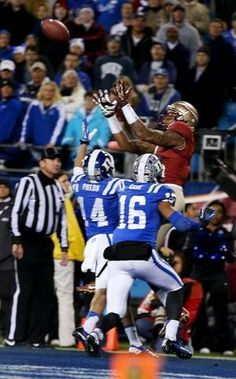 Coming into Saturday night, December 7, 2013, FSU football players knew if they beat No. 20 Duke in the ACC Championship Game, they would earn a spot in the BCS title game. So No. 1 FSU went out and did exactly that, scorching the Blue Devils 45-7 at the Bank of America stadium in Charlotte, North Carolina. Way to go Noles!