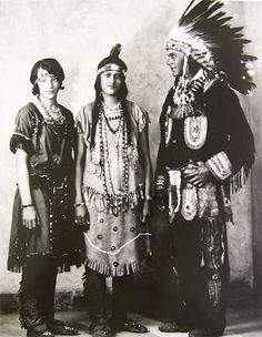 Thelma Dennis, Pocahontas Cook, Walter Bradby - Pamunkey - circa 1920