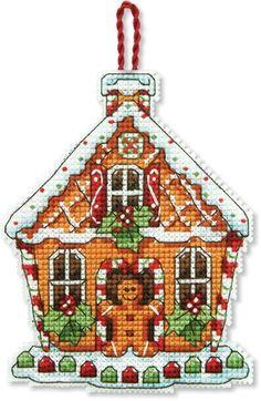 Gingerbread House (Christmas Ornament) - Cross Stitch Kit