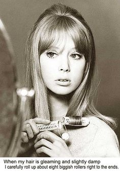 Patti Boyd's 1960s Hairstyle tricks for long hair.B