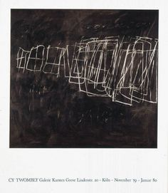 Cy Twombly exhibition poster, Galerie Karsten Greve, Cologne 1980, 66 × 57 cm / 26 × 22 1/2 in, € 80,-