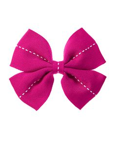 Pick,Stitched Bow Clip at Gymboree