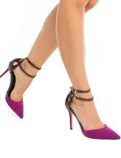 Expand your shoe closet with high heels & pumps on sale now at ShoeDazzle. Cute Pumps, Purple Heels, Shoe Dazzle, Pointed Toe Pumps, Beautiful Shoes, New Shoes, Comfortable Shoes, Fashion Shoes, Women's Fashion