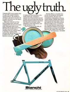 Origin(s) of Bianchi Celeste, and more.  Fav colour on a bike, despite how ugly it may be!
