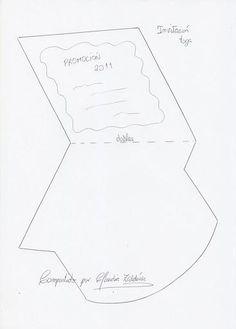 molde de tarjeta de invitación de graduación