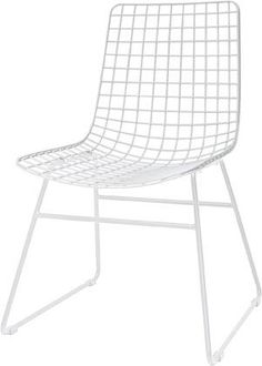 Draadstoel Wire - Wit - Metaal - HK Living