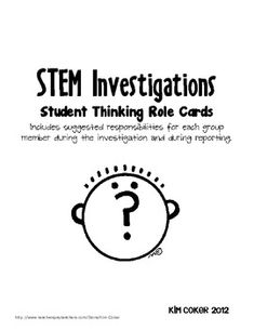 STEM (Science) Thinking Role Cards - Science Labs, STEM Ch