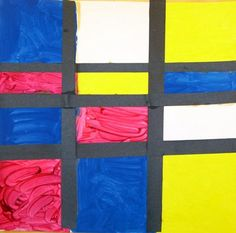 """Mondrian Paintings""  Grade 1"