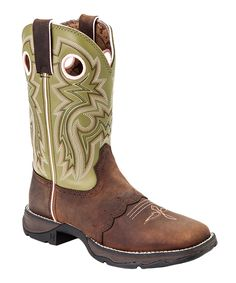 Brown Meadow 'N' Lace Lady Rebel Leather Cowboy Boot - Women