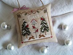 """""""Cardinal Winter"""" ~ by Little House Needleworks"""