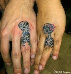 Finger skull tattoos theme