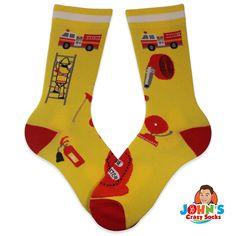 Firefighter Jacket, Special Olympics, Local Hero, Winter Socks, Crazy Socks, Colorful Socks, Winter Theme, Fire Trucks, Fire Fighters