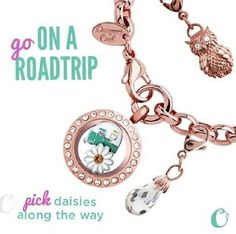 Where will your road trip take you? New Spring items for Origami Owl - rose gold dangle bracelet and mini locket Origami Owl New, Origami Owl Bracelet, Origami Owl Business, Origami Owl Lockets, Locket Bracelet, Origami Owl Jewelry, Rose Gold Locket, Useful Origami, Personalized Charms