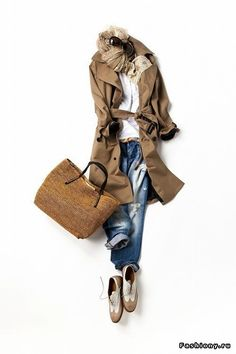 How to wear trench casual Daily Fashion, Love Fashion, Winter Fashion, Fashion Looks, Womens Fashion, Fashion Design, Petite Fashion, Curvy Fashion, Mode Outfits