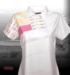 Ladies Short Sleeve Golf Shirt by Bermuda Sands Apparel - Swing.  Buy it @ ReadyGolf.com Bermuda Sands, Womens Golf Shirts, Ladies Golf, Dresses For Work, Lady, Sleeve, Style, Fashion, Manga