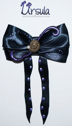 Ursula Hair Bow by MickeyWaffles on Etsy