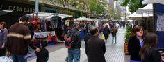 Paseo Ahumada no centro de Santiago.