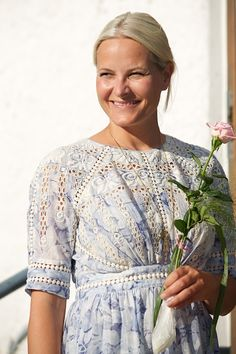 Crown Princess Mette-Marit of Norway takes part in Climate Pilgrimage on August 22, 2015 in Stromstad, Sweden