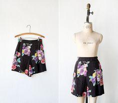 Vintage 1930s shorts / vintage 30s short / floral by adoredvintage, $128.00