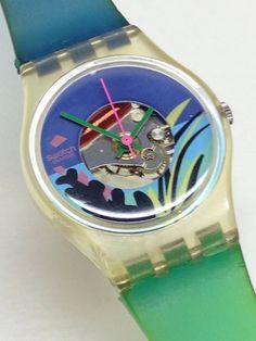 a6f158ef64a Swatch Watch Skin Thinario Black Blue Purple