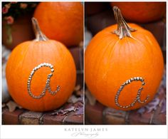DIY pumpkin fall craft for weddings, home decor, etc. love this! so cheap and easy.
