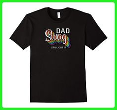 Mens Dad with Swag T-shirt! Perfect Father's Day gift Large Black - Holiday and seasonal shirts (*Amazon Partner-Link)