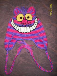 Cheshire Cat Crochet Beanie. $26.00, via Etsy.