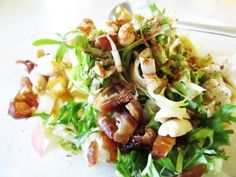 Summer Warm Frisee Salad With Crispy Kosher Salami Recipe. #summer #recipe #salad #salami