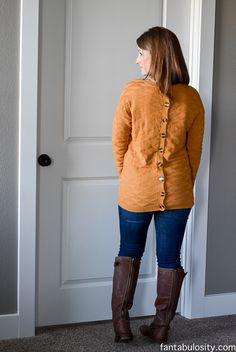 Stitch fix: this sweater is another amazing one. The buttons are amazing and I would love something similar (or exactly the same ). The color is not my favorite, so maybe blue, brown, black, purple, crimson, or burgundy?