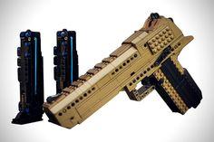 Lego Technic Sets, Lego Custom Minifigures, Lego Machines, Lego Guns, Lego Challenge, Desert Eagle, Lego Pictures, Amazing Lego Creations, Lego Craft