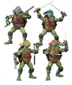 Teenage Mutant Ninja Turtles Set of 4 Exclusive Classics Movie Action Figures