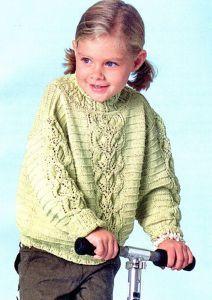 Вязание для детей спицами. Джемпер