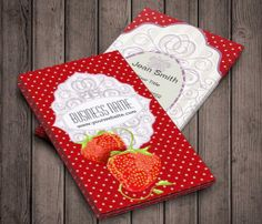 Tasty Strawberries Business Card This great business card design is available for customization. All text style, colors, sizes can be modified to fit your needs. Just click the image to learn more! | bizcardstudio.co.uk