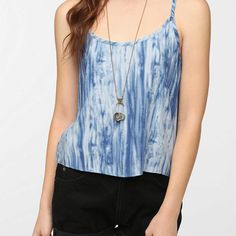 byCORPUS Cropped Soft Woven Cami