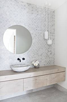 Dreaming of a luxury or designer bathroom? Weve gathered together lots of gorgeous bathroom ideas for small or large budgets, including baths, showers, sinks and basins, plus bathroom ideas that are decor. Marble Mosaic, Mosaic Tiles, Mosaic Tile Bathrooms, Bathroom Shelves, Bathroom Vanities, Bathroom Fixtures, Bathroom Organization, Bathroom Storage, Kitchen Backsplash