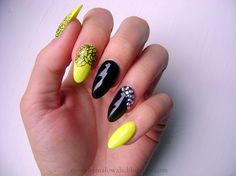 Pretty design with little nail decoration.