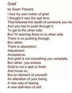 This is so well-written; perfectly describes deep grief.*****