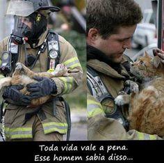 Um anjo salvando um anjo de quatro patas... (An angel saving an angel fours ...)
