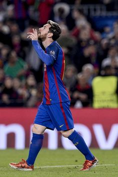 aff4935e227 Barcelona's Argentinian forward Lionel Messi celebrates after scoring  during the UEFA Champions League Group C football