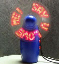 Programmable LED Message Pocket Flash Fan