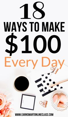 A new year is the perfect time to think of bringing in some extra cash especially after all the holiday spending. If you are searching for money making ideas this year, here are 18 creative ways that you can use to earn up to $100 per day. You work in your free time whenever you want. #earnmoneyfromhome #sidejobstomakemoney #easyonlinejobs #makemoneyfast #makemoneyfromhome #sidehustleideas #makeextramoney #money