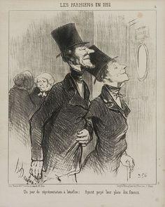 D'après Honoré Daumier Marseille, 1808 - Valmondois, 1879 'Un jour de réprésentation à bénéfice : Ayant payé leur place dix francs'...