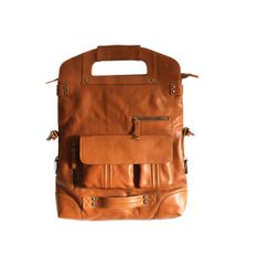 Leather 15 Laptop Bag Foldable Multiuse Laptop Large by HerHis, $368.00