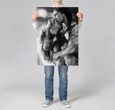 Visit my Shop to use this coupon code for 20% off: XMAS16 --- Until 7th December 2016. --- Native American LARGE wall art PRINT of  pencil drawing black and white drawing art print hyperrealism pencil art Native American poster by DrawingIllustration