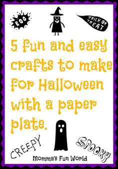 Momma's Fun World: 5 fun and creative things to do with a paper plate