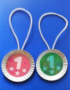 Medale z okazji Dnia Babci i Dnia Dziadka - Washer Necklace, Education, Christmas Ornaments, Holiday Decor, Sport, Jewelry, Crafting, Deporte, Jewlery