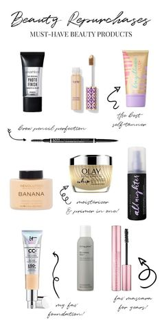 BEAUTY REPURCHASES - Makeup & Beauty - products best products drugstore products must have products natural products that really work Beauty Blogs, My Beauty, Beauty Makeup, Beauty Hacks, Natural Beauty, Beauty Trends, Natural Makeup, It Cosmetics Cc Cream, It Cosmetics Foundation