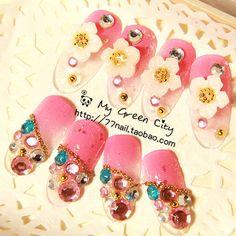 Aliexpress.com : Buy V 011 taohuajiangriver nail art false nail bride nail art patch on Jessie's shop. $6.80