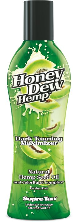 Supre Tan Honey Dew Hemp Dark Tanning Maximizer Organic Hemp Seed Oil Tanning Lotion